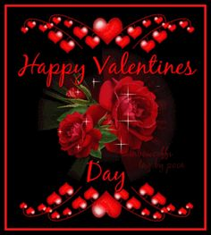 Happy Valentine's Day - Happy Valentine's Day flowers roses valentines day graphic happy valentine's day valentine's - Valentines Day Sayings, Valentines Day Cookies, Valentines Day Gif Images, Happy Valentines Day Pictures, Roses Valentines Day, Valentine Picture, Valentines Day Wishes, Valentine Day Wreaths, Love Valentines