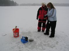Just jigging away on the Vexilar flasher.  Great group of ladies taking an ice fishing class, Women's Outdoor Learning Center. Pickerel, Bass, Hornpout, Crappie, Bluegill.