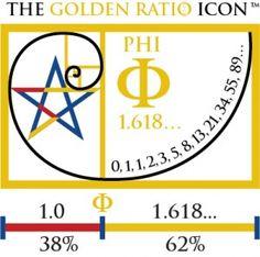 Divine Proportion Golden Mean | Golden Ratio Icon