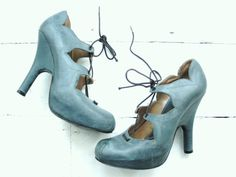 These make my heart melt... Me want... Vivienne Westwood hidden PLATFORM leather pirate by shmooozin, $389.00