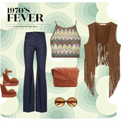 1970's Fever by carlamc on Polyvore featuring polyvore, fashion, style, Topshop, W118 by Walter Baker, Giuseppe Zanotti and Orla Kiely