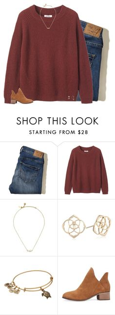 """""""is anybody else's cutouts not working?"""" by preppin ❤ liked on Polyvore featuring Hollister Co., Toast, Kate Spade, Kendra Scott and Alex and Ani"""