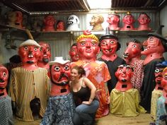 Traditional Costa Rican paper mache masks