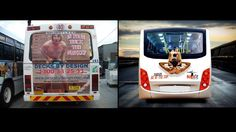 Most Funny and Creative Bus Ads ever seen #funny #creative #bus #Ads #funnyads #creativeads #busads