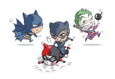 Lil' Bat, Cat, Haley & Joker