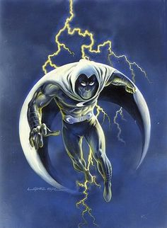 "marvel1980s: ""Moon Knight by Lopez Espi """