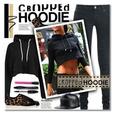 """Cute Trend: Cropped Hoodies"" by svijetlana ❤ liked on Polyvore featuring adidas, Lancôme, Eyeko and CroppedHoodie"