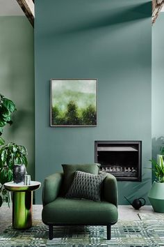 The 2020 Dulux Colour Forecast Is Revealed! Dulux reveal their 2020 Colour Forecast – dictating colour trends for the year to come! Living Room Red, Living Room Interior, Living Room Decor, Green Living Room Ideas, Green Home Decor, Living Room Paint, Bedroom Decor, Design Lounge, Colorful Interiors