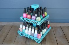 Nail Polish 2 Tier Table Top Organizer by NLpalletcreatives, $24.00  Oh this is adorable.