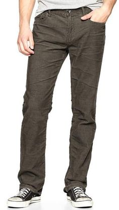 7476859cce629 Gap - Gray Corduroy Pants Straight Fit for Men - Lyst