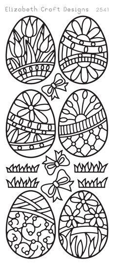 Easter Eggs (sku 2541) from ElizabethCraftDesigns.com