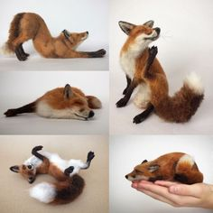 Image result for sleepy fox needle felt