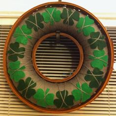 Changed my Pinterest inspired Valentine's wreath into a St. Patrick's wreath!