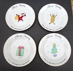 2 Sakura Blue SNOWMAN Plates Dishes Luncheon Dessert Salad Debbie ...