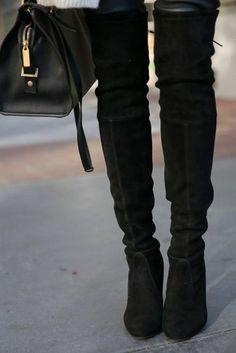 Ботфорты черные замшевые. Идеальные