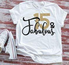 Happy 15th Birthday, Girl Birthday, Birthday Ideas, Girlfriend Birthday, Birthday Wishes, T Shirt World, Birthday Shirts, Birthday Memes, Direct To Garment Printer