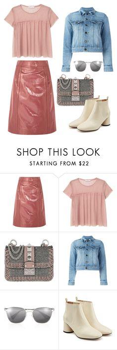 """Patent skirt"" by silverfishx ❤ liked on Polyvore featuring Bottega Veneta, MANGO, Valentino, Yves Saint Laurent, Prada and Marc Jacobs"