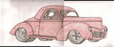 1940 Ford Willy: I have always liked the 40 Ford. However, the willy is awesome. I draw by looking at photos and enjoy this as one of my favorite pastimes. Homemade Crossbow, Classic Artwork, Favorite Pastime, Backrest Pillow, Old Cars, Ford, My Favorite Things, Drawings, Awesome