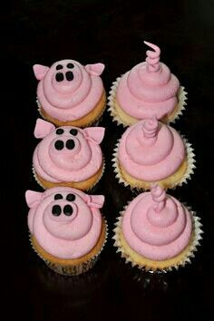 Sweet Cakes: Pig Cupcakes [for Peppa Pig themed party] Pig Roast Party, Pig Party, Farm Party, Pig Cupcakes, Cupcake Cakes, Farm Animal Cupcakes, Peppa Pig Cupcake, Barnyard Cupcakes, Cup Cakes