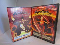 Avatar: The Last Airbender Book 3: Fire Volume 3 & Volume 4 (DVD, 2008) Set of 2