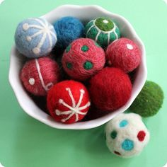 needle felted christmas images   Needle-Felted Christmas Ornaments - cat toys?   AA Crafters project i ...