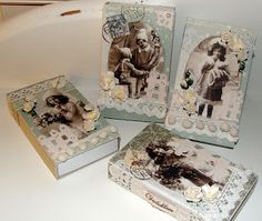 Merete sin kortverden: Dekorerte fyrstikkesker Christmas And New Year, Christmas Crafts, Christmas Ideas, Fun Crafts, Diy And Crafts, 3d Cards, Nouvel An, Paper Crafting, Paper Art