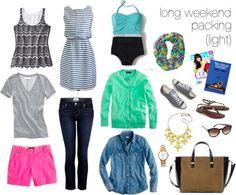 """spring 2013 long weekend packing"" by cardiganjunkie on Polyvore"