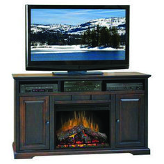 Primary fireplace tv stand glass embers exclusive on homeeideas.com Fireplace Console, Fireplace Furniture, Media Fireplace, Fireplace Mantels, Tv Stand Wayfair, Legends Furniture, Electric Fireplace Tv Stand, Electric Fireplaces, Swivel Tv Stand