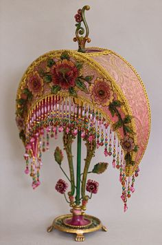 Nightshades -Art Nouveau Crescent Moon Victorian Lampshade
