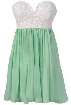 mint bridesmaid dress, so sweet for an all white wedding