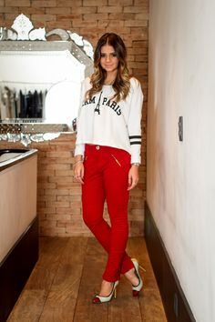 Red Pants - Thassia Naves