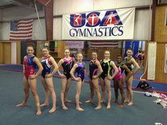 Woman's gymnastics European tour team