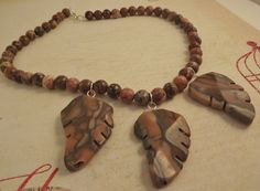 'Stone Leaves Necklace' is going up for auction at 10am Wed, Feb 13 with a starting bid of $7.