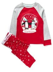 Girls Christmas Snowglobe Pyjama