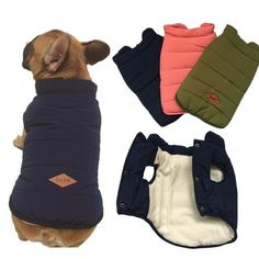 Buy Winter Dog Vest Jacket Pug Frenchie French Bulldog Dog Clothes Poodle Yorkies Schnauzer Bulldog Clothing Pet Coat Winter at Wish - Shopping Made Fun Dog Vest, Dog Jacket, Dog Hoodie, Schnauzer, French Bulldog Clothes, Cute Dog Clothes, Small Dog Clothes, Dog Winter Coat, Winter Vest