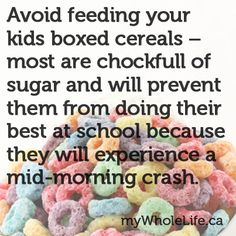 Why it is so important to avoid boxed #cereals.