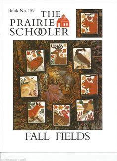 Fall Fields #159 Prairie Schooler Cross Stitch Pattern Leaflet