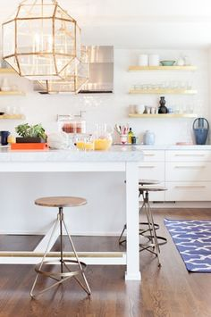 Gold Accents in the Kitchen: From Just a Little to a Whole Lot