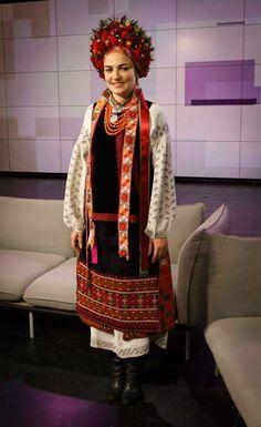 A bride's traditional costume from Poltava region, Ukraine