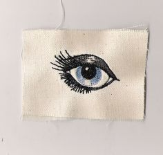Embroidered eye