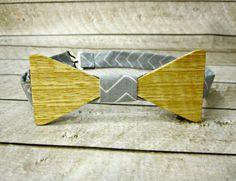 Men's Hawaiian Ash Wood Bow Tie