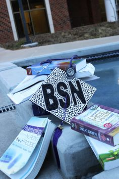 BSN graduation cap. Senior pictures.