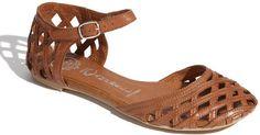 Jeffrey Campbell Brown Mindy 2 Flat Sandal