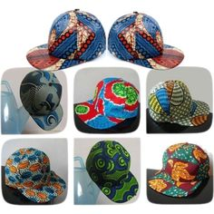 """""""Caps in African Print..Insp.@Tammy Stricklin designs"""" by introducing-neo on Polyvore"""