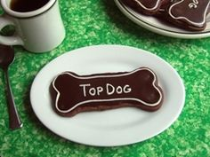 Chocolate Chocolate Chip Cookies, made with Ann Clark Dog Bone cookie cutter
