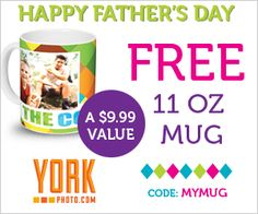 Free York Photo Father's Day Mug Plus 40 Free Prints Guaranteed Father's Day delivery if ordered by May 31st Fern Smiths Classroom Ideas!