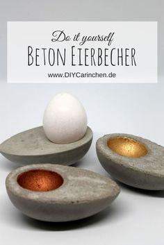 DIY Eierbecher aus Beton in Eierform ganz einfach selber machen: DIY, Basteln, Selbermachen, Beton, Gips, Congrete, Betoneierbecher, Eierbecher, Osterdeko, Ostern, Anleitung, Tutorial #Osterdeko #Beton #Congrete #Gips #Eierbecher #Ostern #Bastelidee #DIY #Basteln #Selbermachen #doityourself