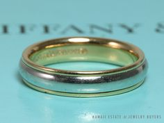 SEE MORE ON http://www.hawaiijewelrybuyers.com/  #TIFFANYandCO AUTH TIFFANY & CO PLATINUM 18K YELLOW GOLD  LUCIDA WEDDING BAND (SZ 5.5) #TiffanyCo #Band