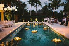 poolside receptions - photo by Lara Hotz http://ruffledblog.com/waterside-destination-wedding-in-bali