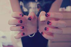 Halloween Drippy Blood Nail Art